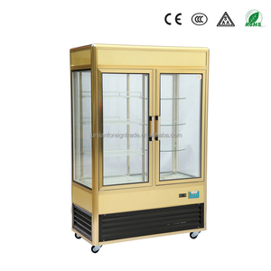 china manufacturer air cooled vertical commercial cake refrigerator aluminum display cake refrigerator showcase