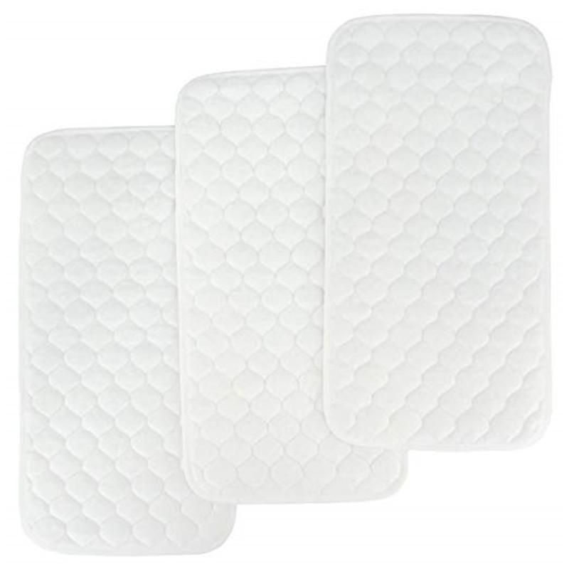 बदलते चटाई Liners (3 पैक) कार्बनिक कपास निविड़ अंधकार और शोषक बेबी डायपर बदलते टेबल कवर