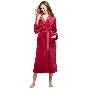 Flannel luxury Warm Nightgown Long Kimono Bath Robe for Women Men Dressing  Gown 12a13bcb9