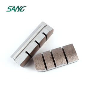 Diamond fickert grinding block ,metal bond grooved/segmented for granite