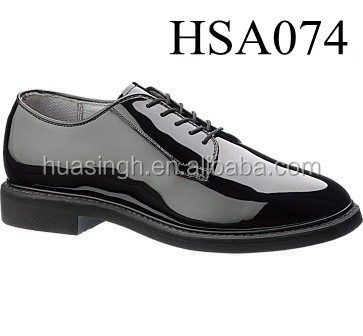 STOCK hi gloss shine leather uniform oxford style elite force Bates shoes for officer