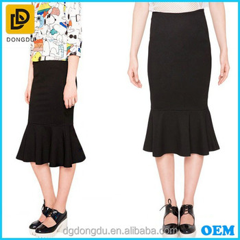 2aefb822f1 Women Korean Fashion Midi Length Trumpet Skirt 2015 - Buy ...