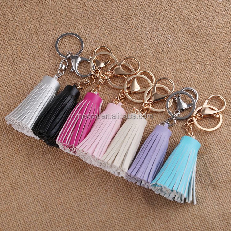 fashion leather tassel keychain wholesale NS-844A