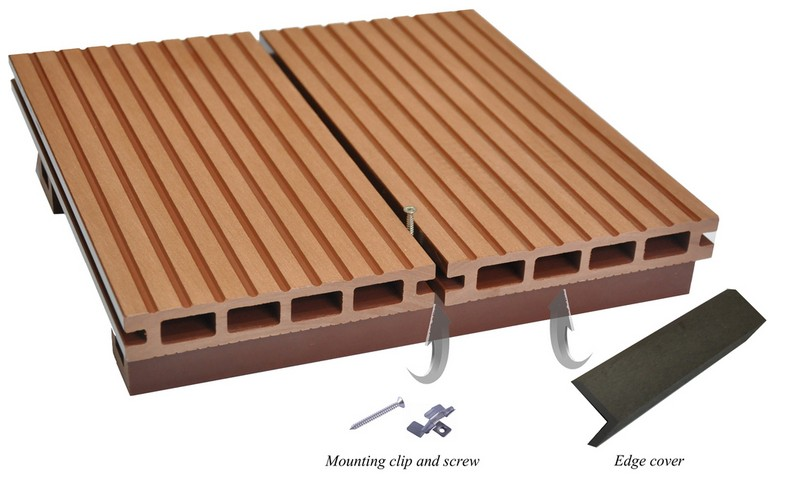 Anti static waterproof cheap exterior used wood plastic for Cheap composite decking