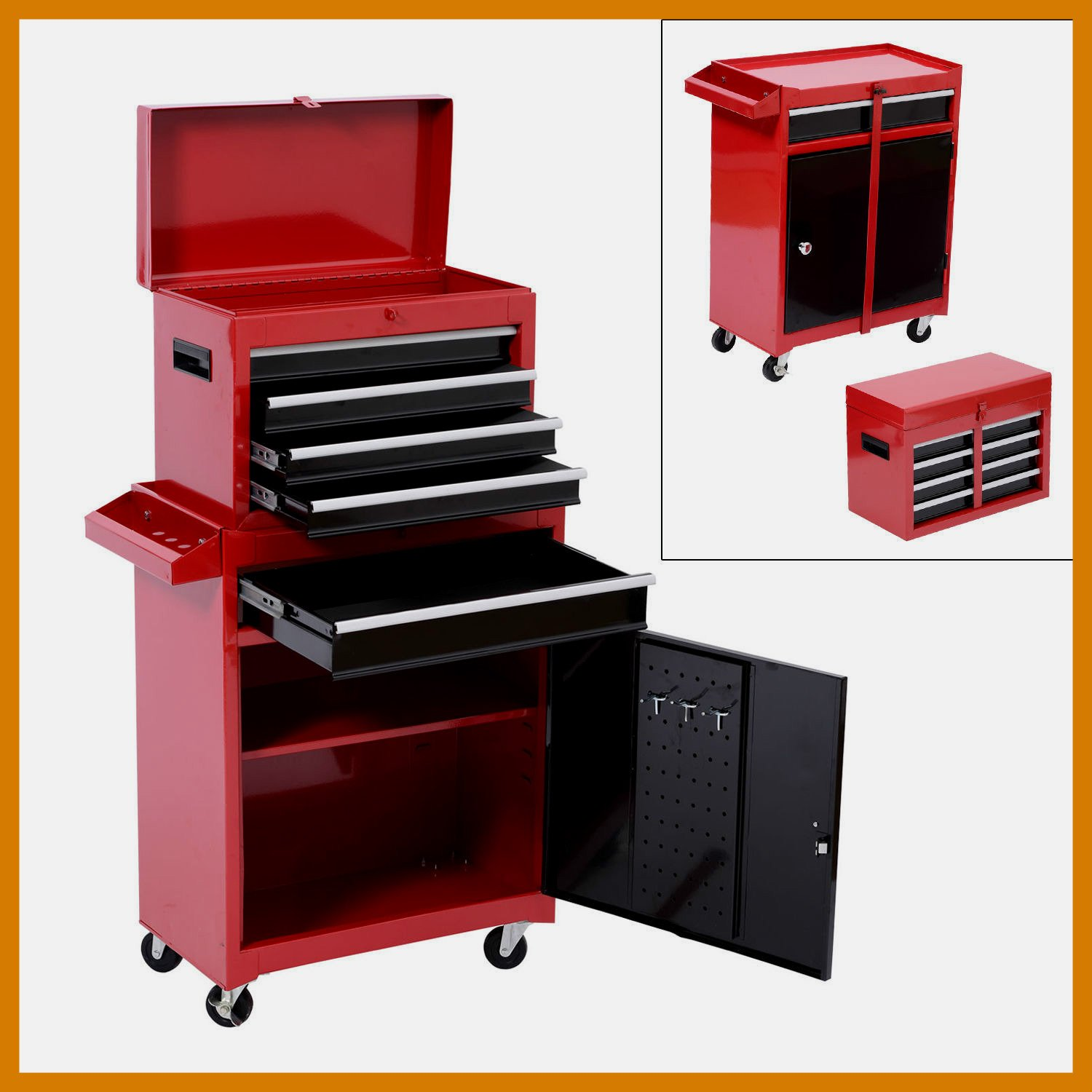 Rolling Toolbox Compact Design Storage Cabinet Portable Tool Chest Cart Sliding Drawers - House Deals & Cheap Portable Tool Storage Ideas find Portable Tool Storage Ideas ...