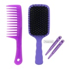 Barber Equipment and Supplies Hairdressing Hair Brush & Hair clip Salon Cutting Plastic Barber Comb Set