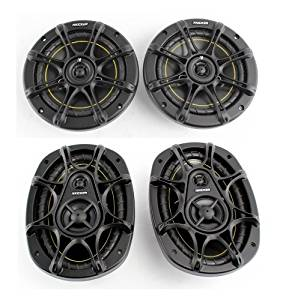 """2) Kicker DS60 6.5"""" 200 Watt 2-Way +2) Kicker DS693 6x9"""" 280W 3-Way Car Speakers"""