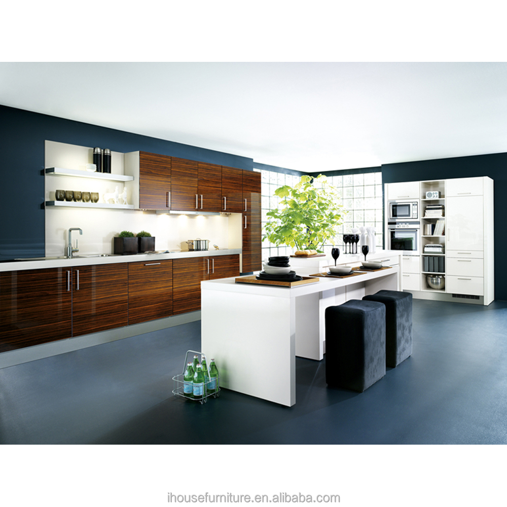 China Cheap Acrylic MDF Home Design Kitchen Cabinets/High Gloss Acrylic Kitchen Cabient Door