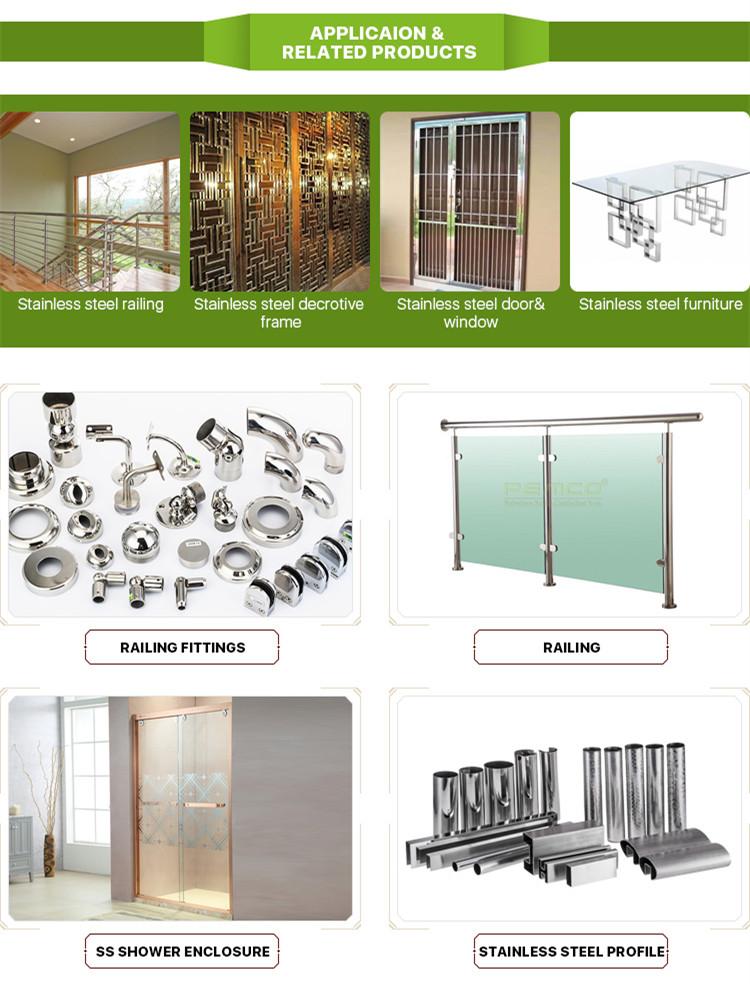 أنبوب ملحوم بالجملة من فوشان ASTM 304 ماسورة من الفولاذ المقاوم للصدأ 201