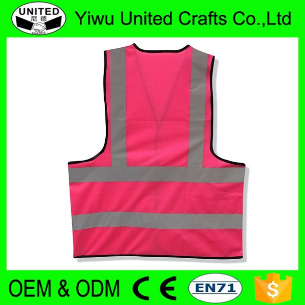 2016 China supplier custom pink safety reflective jackets