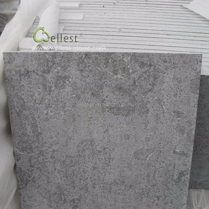 Factory price blue grey limestone paver tile for patio terrace and exterior flooring