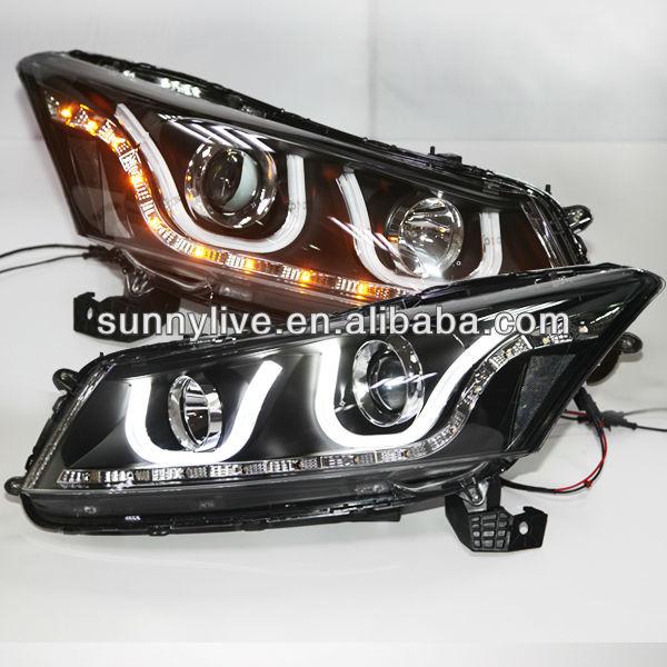 For Accord Led Strip U Type Angel Eyes Head Lamp For Honda 2008 ...