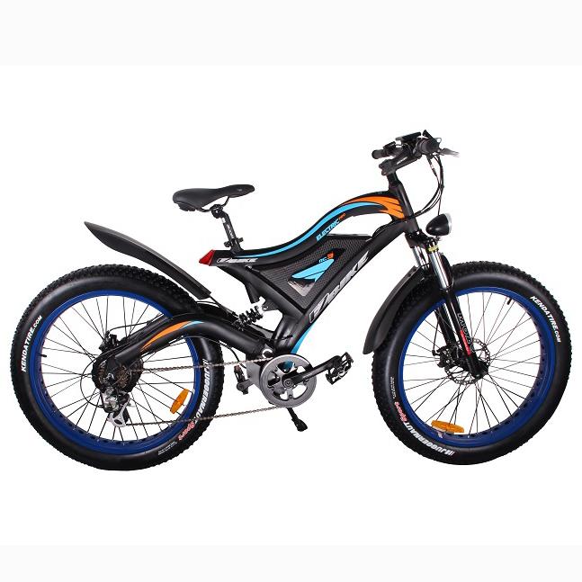 High level china ebike full suspension 500 watt 26'' snow mountain fat ebike with best 48v hidden battery