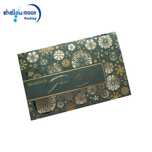 Handmade high quality decoration colorful paper greeting card