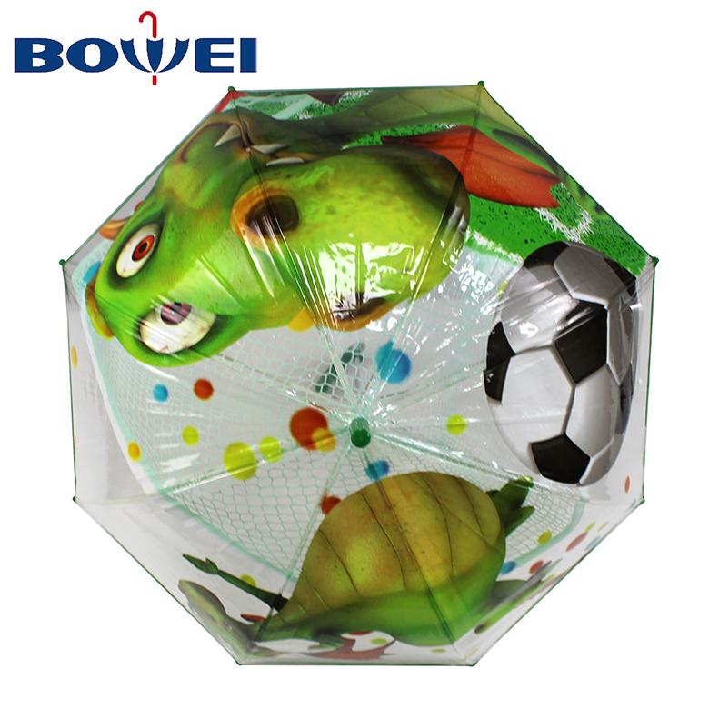 2020 boy dinosaur cat monkey cartoon animal J handle Wholesale kids umbrella customize transparent POE umbrella