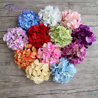morden home decor wholesalers silk hydrangea flowers artificial flower heads