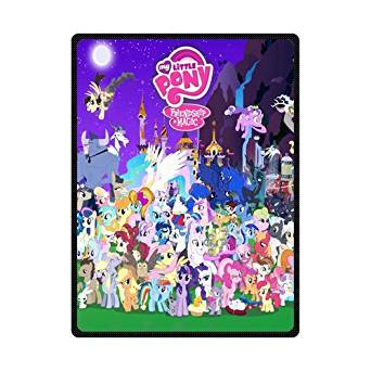 "Scottshop Custom High Quality Fleece Blankets 58"" x 80"" Inch, Design My Little Pony Blanket, Fashion Warm Cozy Soft Sofa Bed Blankets Throws Blankets"