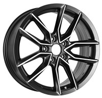 Black BBS Style 17 inch Car Alloy Wheel Rims Aftermarket Designs New Car Rims