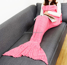 New Arrival Christmas Watching TV Wearable Mermaid Tail Blanket Knit Pattern