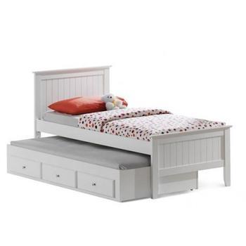 New Model Design White Single Bed For Children Room With Trundle Bed - Buy  White Single Bed For Children Room,White Single Bed For Children Room With  ...