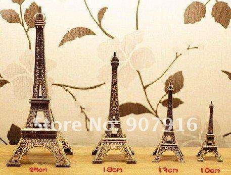 high 39cm metal craft arts 3D Eiffel Tower model French france souvenir paris home decoration gift desk office
