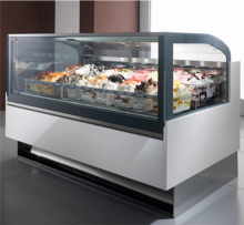 Dessert retail shop gelato popsicle ice cream display freezers