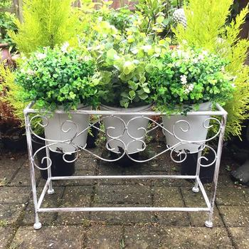 Large Antique Vintage Style Metal Garden Planter Plant Stand Display  Outdoor - Buy Antique Vintage Style Metal Garden Plant Stand,Large Antique  ...