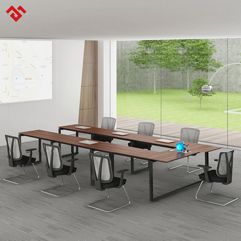 Modern Luxury U Shape Stainless Steel Mfc Modular Office Conference - Modular meeting table