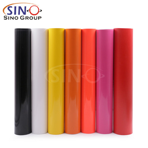 SINOVINYL 1.22x50M Self Adhesive Color PVC Sticker Cutting Vinyl Film