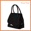 2016 Designer Brand Black Bag small Leather Magnetic snap closure Women Shoulder Bag