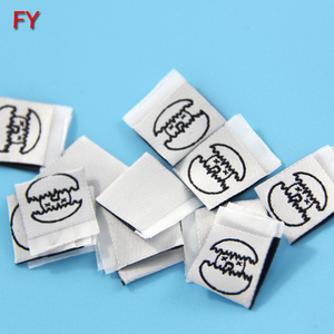 Hot Selling Custom Logo Centerfold Woven Label