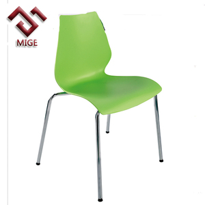 Orange blue black white green plastic chair for restaurant
