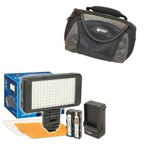 Panasonic Lumix DMC-FZ1000 Digital Camera Lighting Vidpro Ultra-Slim LED-230 Video and Photo LED Light Kit- With SDC-26 Case