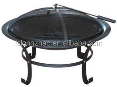 30 39 39 ronde en acier foyer ext rieur grille de barbecue id for Foyer exterieur acier