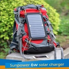6W 5VSunpower solar charger with usb plug