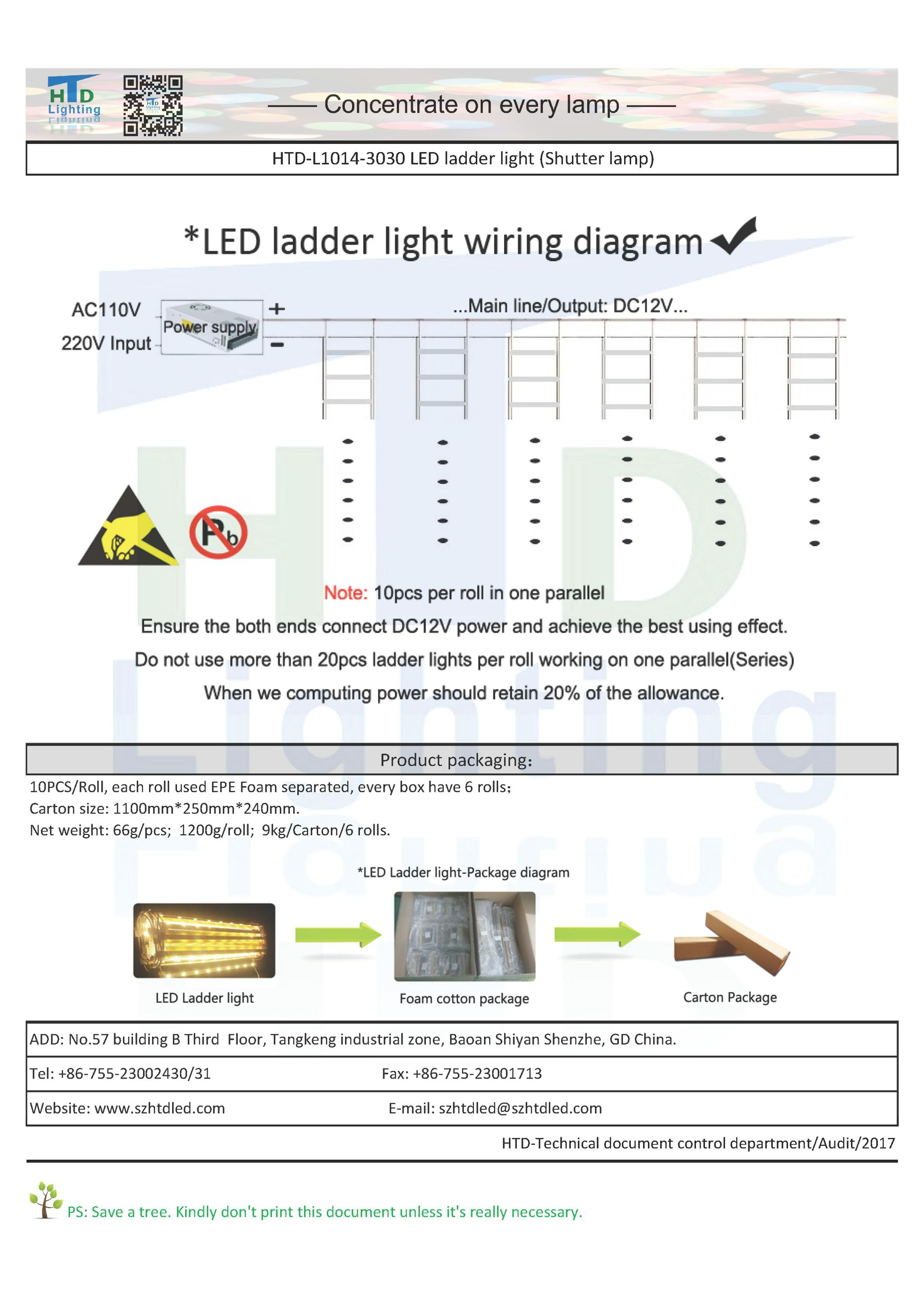 Large Light Boxes Illumination Backlight 80 X 20 Led Ladder Tree Wiring Diagram Htd L1014 3030 2017htd Spec 3