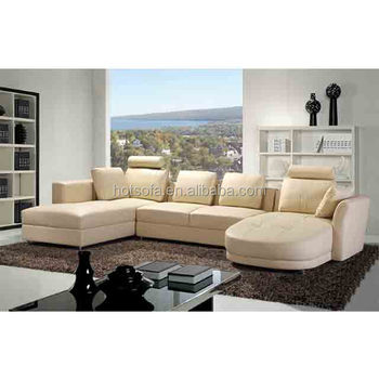 U Shape Leather Sofa Modern Design Sectional Sofa Living Room Furniture Sets