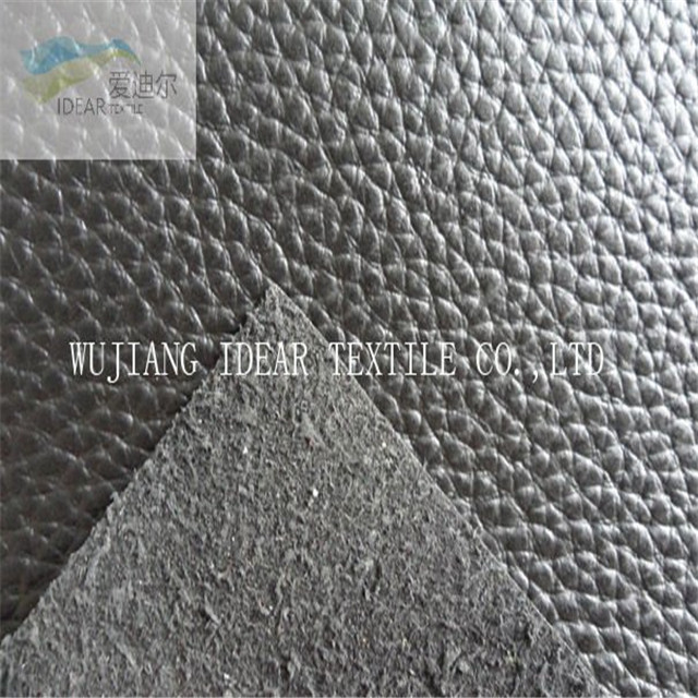 PVC Lichee Pattern Synthetic Leather For Sofa