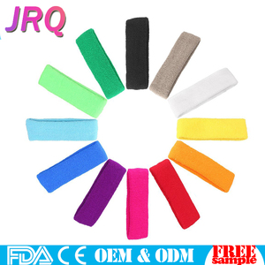 Elastic Cheap Sports Sweatband OEM Promotional Terry Cotton Sports Wristband With Customer Logo