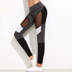 Stitching design sexy mesh legging hot selling women high waist workout gym fitness activewear