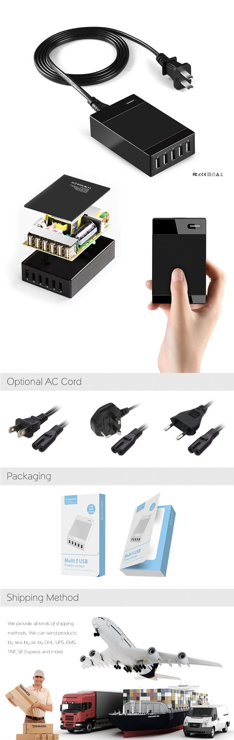 mobile phone accessories 1A mobile phone multi usb charger for iphone