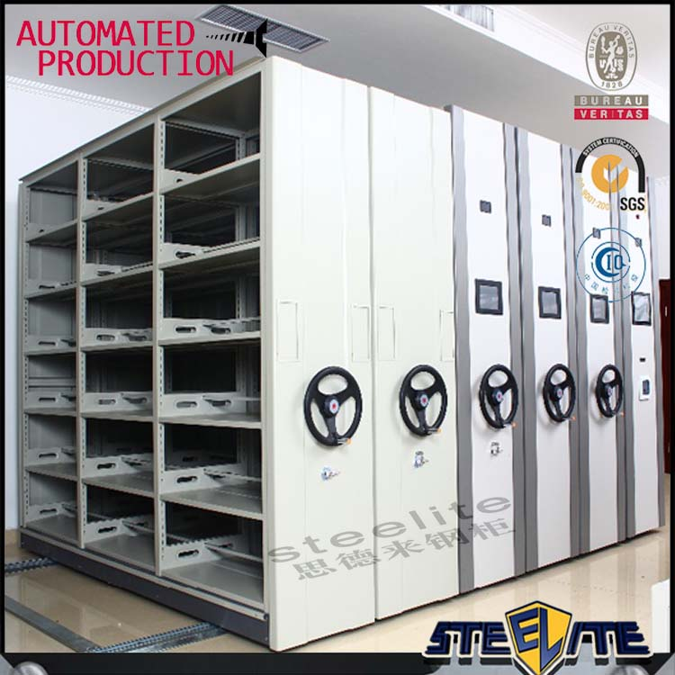Steel File Compactor Push And Pull Mobile Shelving Storage System / Push And Pull Mobile Storage System