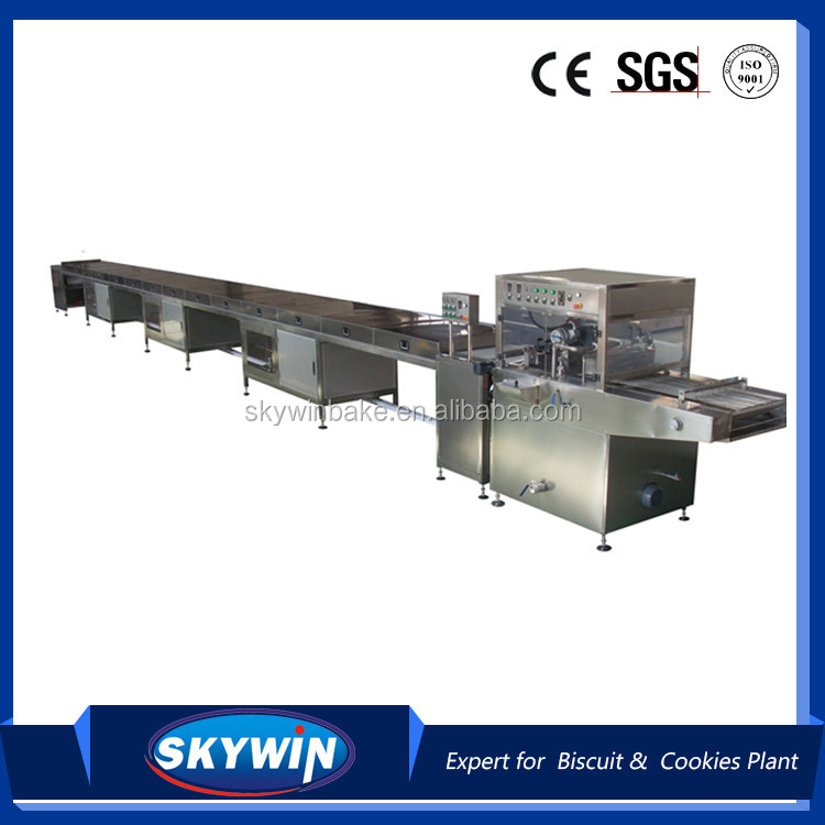 Small Mini Biscuit/Cookies/Wafer Chocolate Enrober Coating Machine Line