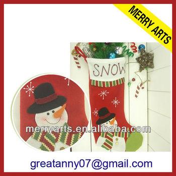 947a0eabb futian market yiwu china manufacturer needlepoint cross-stitch christmas  stocking with snowman