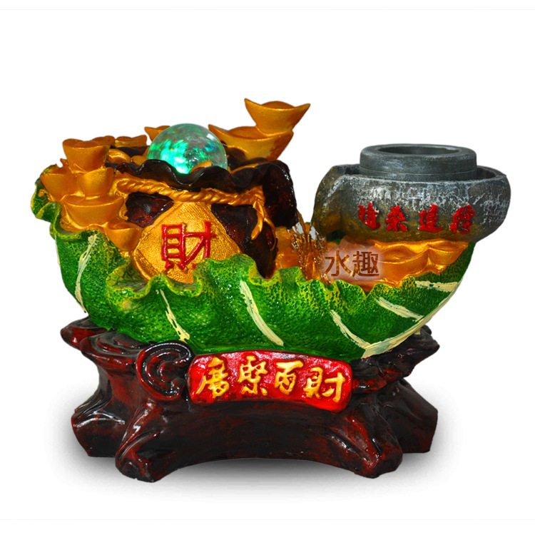 Explosive Crafts Gifts Bai Cai Ruyi cabbage series water features water fountain activities gifts practical