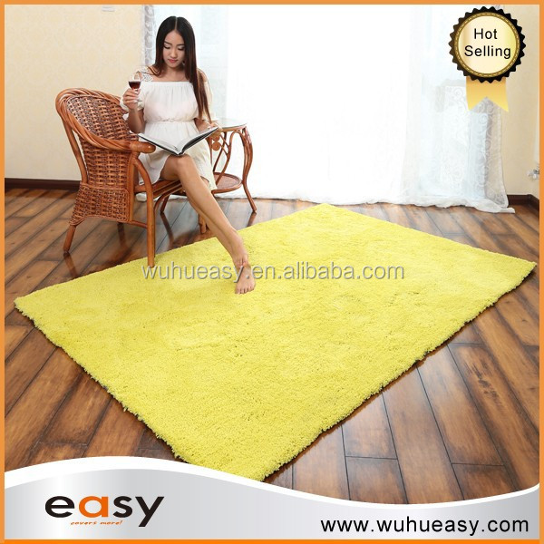 Best sell banana yellow polyester cotton shaggy for kids