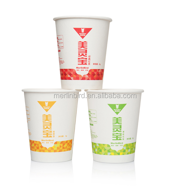 Green tea custom printed paper cup tea for business instant use - 4uTea | 4uTea.com