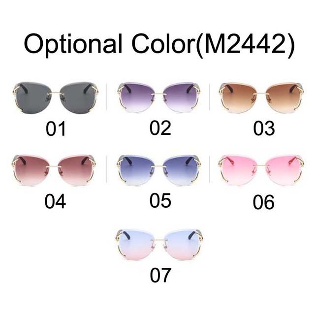 2019 Sunglasses Rimless Personality Sun Glasses Uv400 Fashion Women