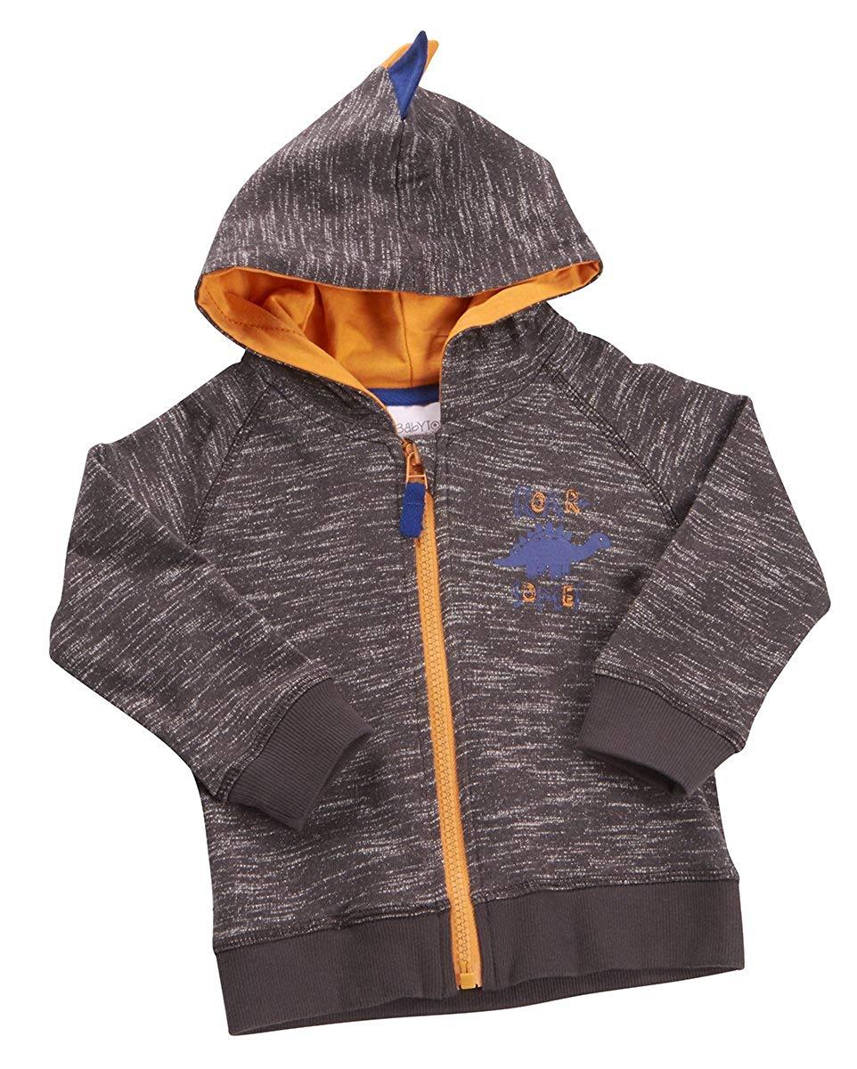 f78356cd60 Get Quotations · BABYTOWN Baby Boy Dinosaur Themed Hooded Sweatshirt with  Zipper