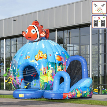 Outdoor toys and structures inflatable bouncer water park water slide
